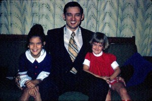 67 - Jerry Young with Daughters, Shelley & Paige at home on Kadena AB, Okinawa; Feb 1973